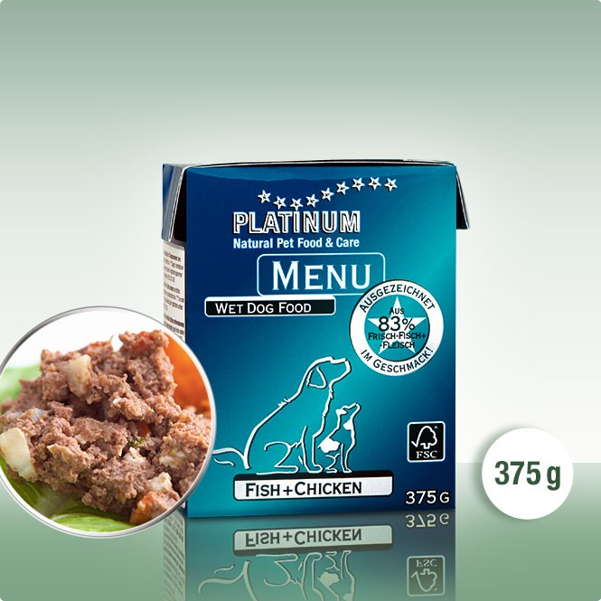 PLATINUM MENU Пиле+Риба 12 х 375g