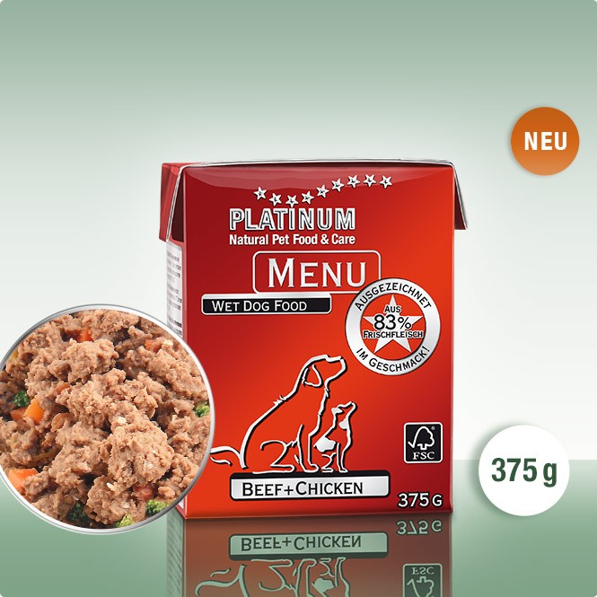 PLATINUM MENU Говеждо+Пиле 375g