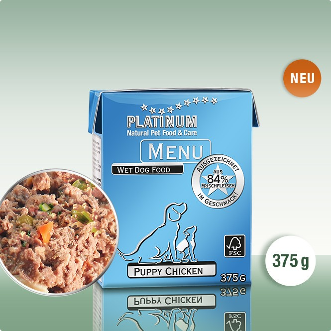 PLATINUM MENU Puppy Пиле 375g