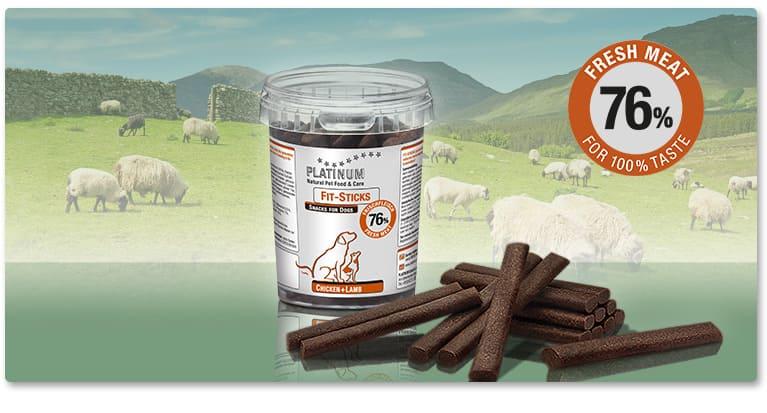 Пръчици PLATINUM Fit-Sticks Пилешко + Агнешко За Кучета от Всички Породи