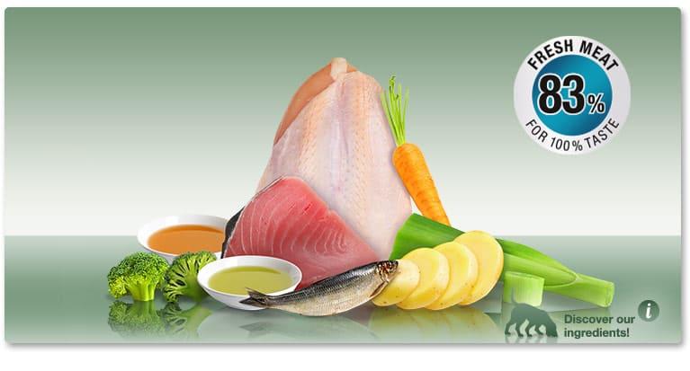 Полувлажна Храна PLATINUM MENU Риба + Пиле за Кучета от Всички Възрасти