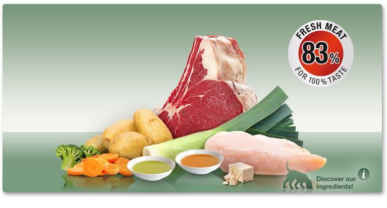 Мека Кучешка Храна PLATINUM MENU Говеждо & Пиле